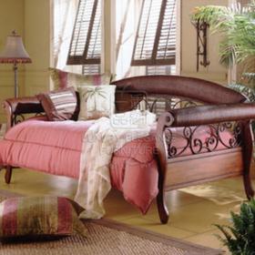 香奢一品定制家具实木沙发床美式乡村沙发床客厅沙发BLD72