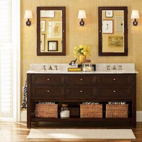 香奢一品定制家具美式浴室实木卫生间柜洗簌盆 浴室柜JMH8-052