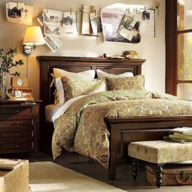 香奢一品家具定制 美式床1.8简约实木双人床大床1.5米JMB1-114