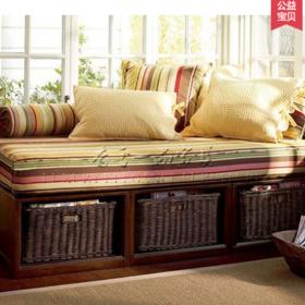 香奢一品高端定制美式沙发床小户型简约实木沙发床1.9 JMS8-029