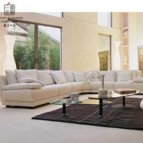 香奢一品高端定制家具美式沙发 高档布艺 软包 多人位沙发AD-125