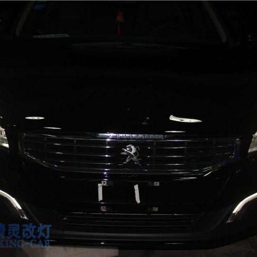 上海蓝精灵改装双光透镜氙气灯 标致新508大灯改装