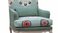 香奢一品定制家具美式沙发椅铆钉客厅高档布艺单人沙发绣花AD-162
