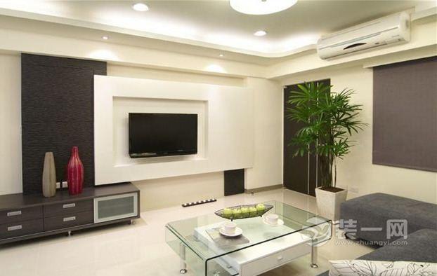 小户型装修客厅电视背景墙效果图2016图片大全