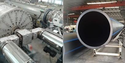 PE/PP高速高产管材挤出生产线