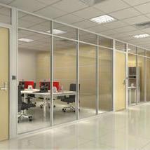 钢化玻璃百叶高隔墙