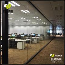 双层玻璃无缝拼接高隔墙