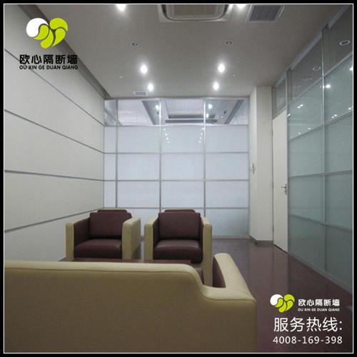 会议室投影木板玻璃隔断墙