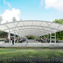 膜结构自行车棚11