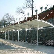 立柱膜结构自行车棚3