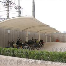 圆管大梁膜结构自行车棚7