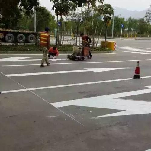 上海厂区热熔划线 车间划线 厂区停车位划线 道路交通划线