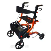 比利时品牌卫美恒老人可折叠助行器带轮带座手推车四脚老人助步器