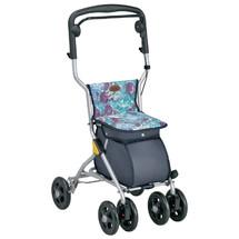 特高步日本老人购物车助行车代步手推车可折叠老年买菜车拉车四轮