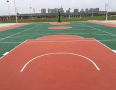 上海崇明塑胶篮球场