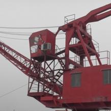 二手固定式15吨码头吊机、买卖二手码头吊机