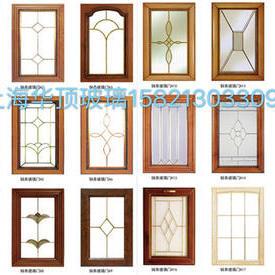 單層銅條鑲嵌玻璃/櫥柜門玻璃/酒柜門玻璃/書柜門玻璃