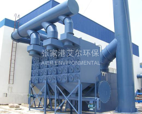 Shot blasting, sandblasting workshop dust treatment