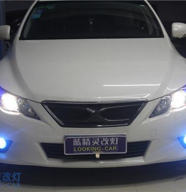 上海蓝精灵改装双光透镜汽车车灯丰田锐志改装汽车氙气大灯