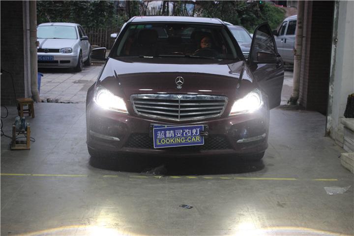 长沙奔驰C180车灯改装11.jpg