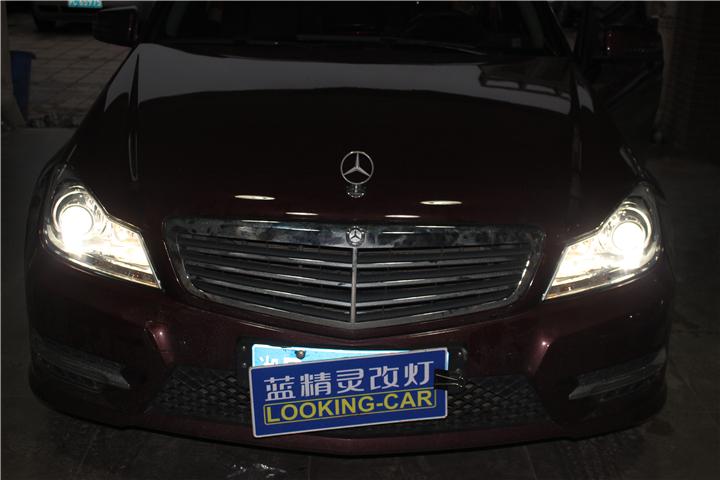 长沙奔驰C180车灯改装06.jpg