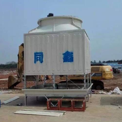 方形逆流玻璃钢冷却塔工程案例