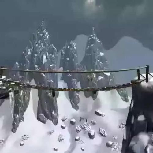 VR雪山吊桥