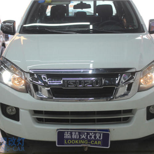 上海车灯改装蓝精灵改装汽车车灯江西五十铃改装双光透镜氙气灯