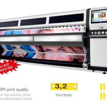 力宇PZR-UV 高精度UV卷材(软膜)打印机