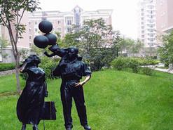 绿地地产铸铜雕塑