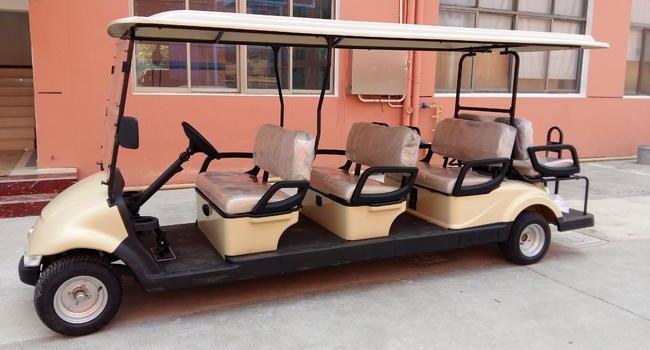 宁波某大型汽车零部件制造厂家-东风品牌8人座豪华型高尔夫球车