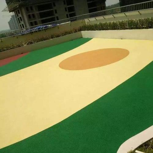 EPDM现浇彩色塑胶地坪