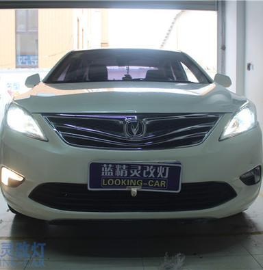 长安逸动改装大灯 上海改装氙气车灯 蓝精灵车灯升级