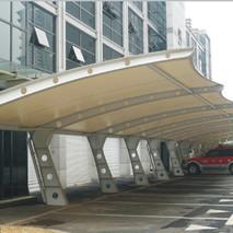 七字型膜结构汽车停车棚