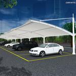 拉杆式膜结构汽车停车棚
