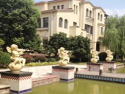 马山圣芭芭拉别墅天使雕塑