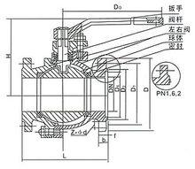 不銹鋼球閥結構圖