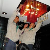 饭店水晶灯清洗