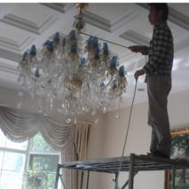 酒店水晶灯清洗