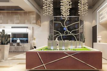 太阳城·御园售楼部设计案例