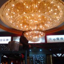 茶楼水晶灯清洗