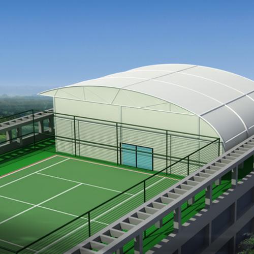 体育场膜结构景观棚是不是只是用大城市