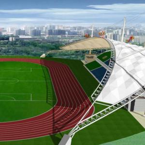 优点之体育场膜结构景观棚