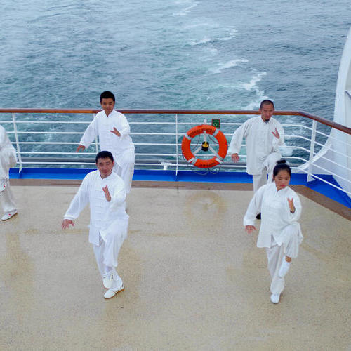 公主号邮轮海上太极活动 Tai Chi Activity on Princess Cruises