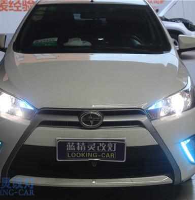 丰田致炫车灯改装 上海汽车灯光改装 蓝精灵改装大灯 启东改灯