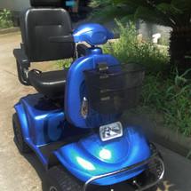 老年人电动代步车 超大加宽轮胎 带挡风板 老人残疾人电动四轮助力车 上海实体店