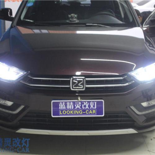 众泰SR7车灯改装 上海改装LED双光透镜 蓝精灵改装氙气灯 嘉善改灯