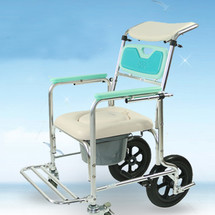 富士康座便椅洗头洗澡可移动坐便椅可半躺坐厕椅多功能轮椅 上海实体店