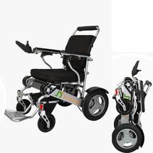 金百合电动轮椅折叠轻便铝合金锂电池智能老年人残疾人轮椅车 上海专卖店