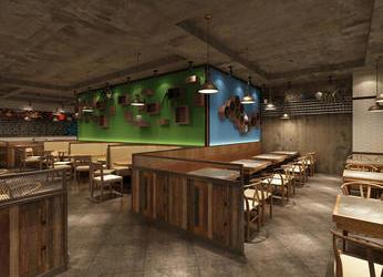 广州海珠区400平千岛樱餐厅装修_餐厅设计效果图